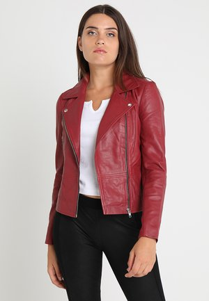 YASSOPHIE COLOR JACKET - Kurtka skórzana - biking red