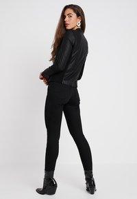 YAS - YASNANNA NAPLON JACKET - Leather jacket - black - 2