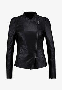 YAS - YASNANNA NAPLON JACKET - Leather jacket - black - 3