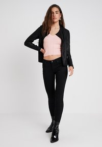 YAS - YASNANNA NAPLON JACKET - Leather jacket - black - 1