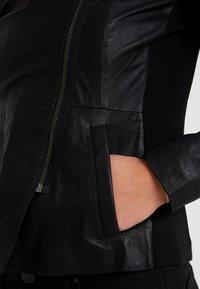 YAS - YASNANNA NAPLON JACKET - Leather jacket - black - 4