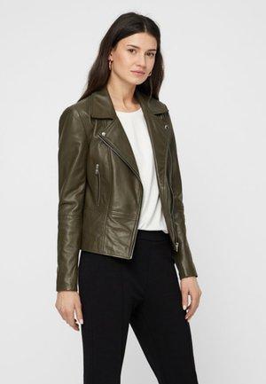 YASSOPHIE COLOR  JACKET - Leather jacket - olive