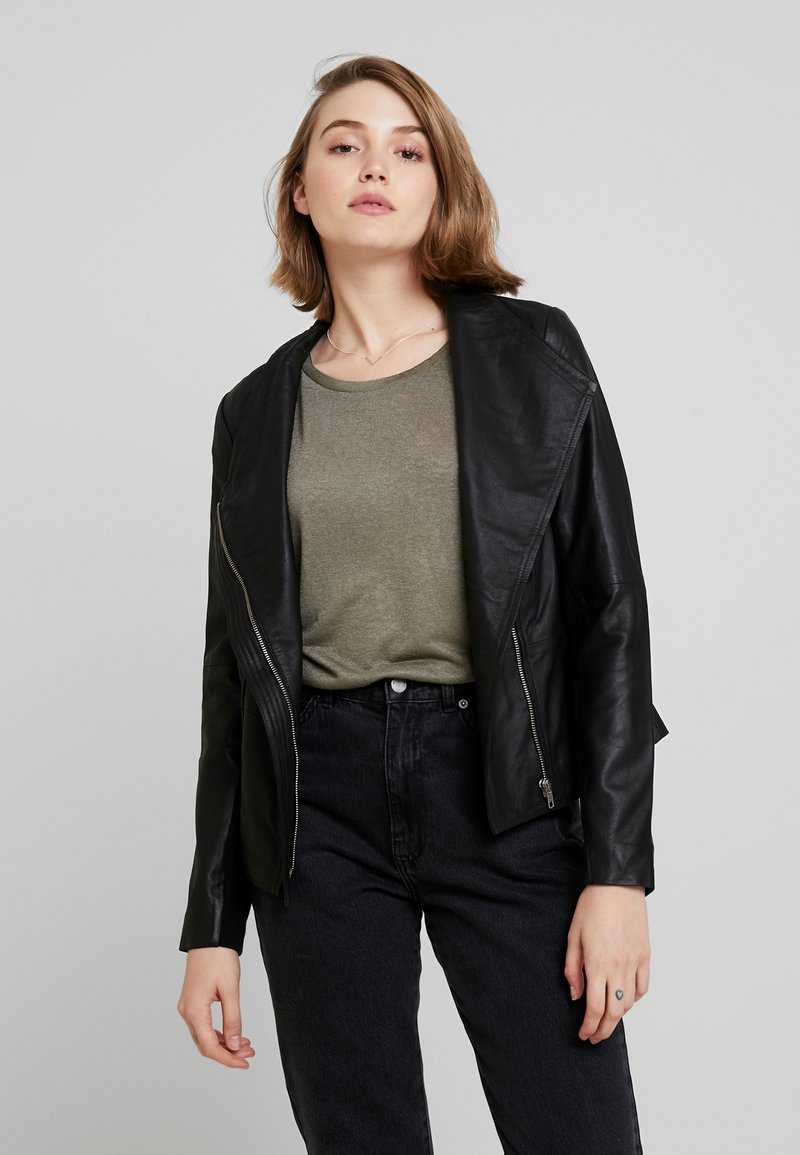 YAS - YASDANIELLA NAPLON JACKET - Leather jacket - black