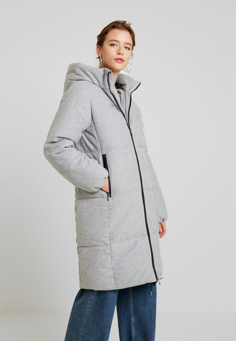 YAS - YASMARTINA PADDED COAT - Płaszcz zimowy - light grey melange