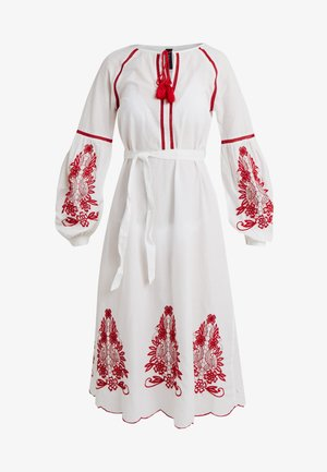 YASRELAXA MIDI DRESS - Długa sukienka - star white/red