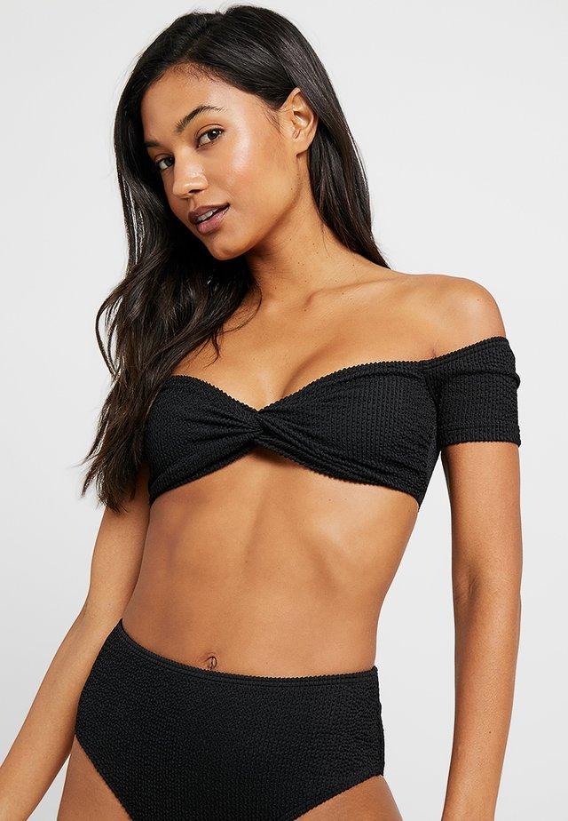 YASAZUL OFF SHOULDER - Bikini pezzo sopra - black