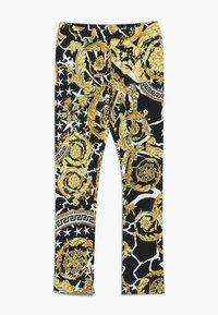 Versace - PANTALONE LUNGO JUNIOR - Leggings - nero/oro - 0