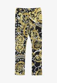 Versace - PANTALONE LUNGO JUNIOR - Leggings - nero/oro - 2