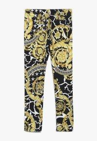 Versace - PANTALONE LUNGO JUNIOR - Leggings - nero/oro - 1