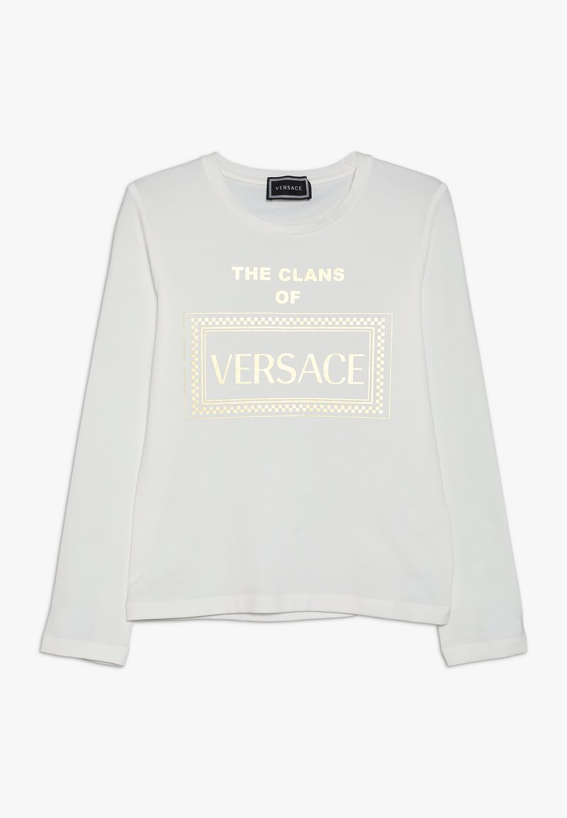 Versace - LUNGA SLIM - Maglietta a manica lunga - nero/oro
