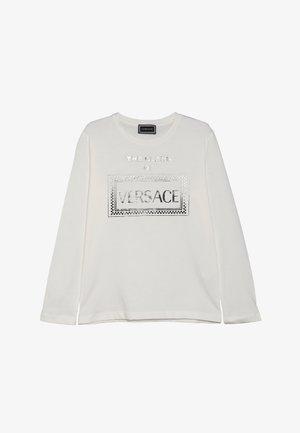 LONG SLEEVES  - Long sleeved top - bianco/nero