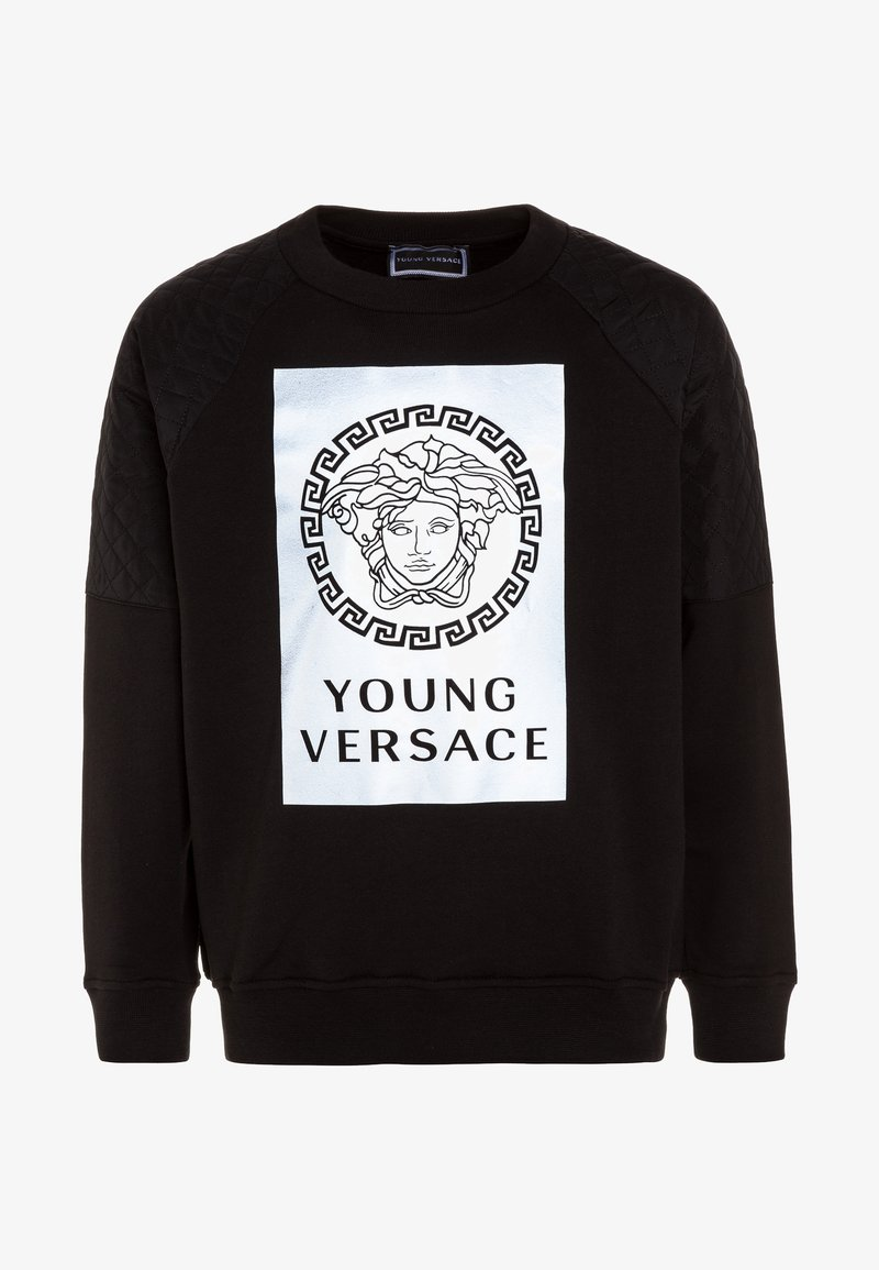 Versace - FELPA - Sweatshirt - nero/grigio