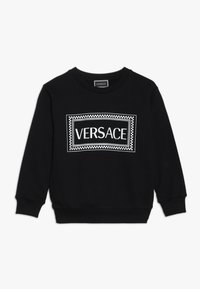 Versace - FELPA MANICA LUNGA JUNIOR - Sweatshirt - nero/bianco - 0