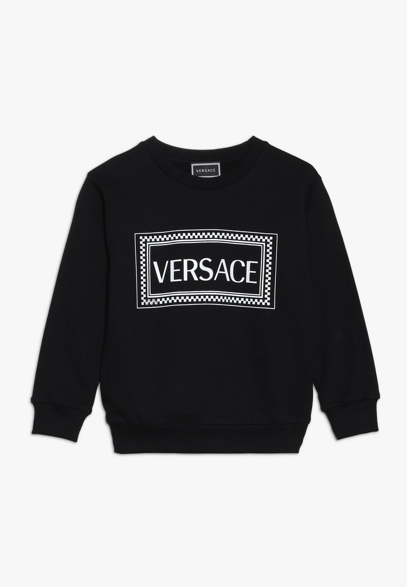Versace - FELPA MANICA LUNGA JUNIOR - Sweatshirt - nero/bianco
