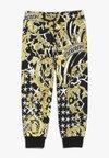 Versace - PANTALONE LUNGO FELPA - Trousers - nero/oro