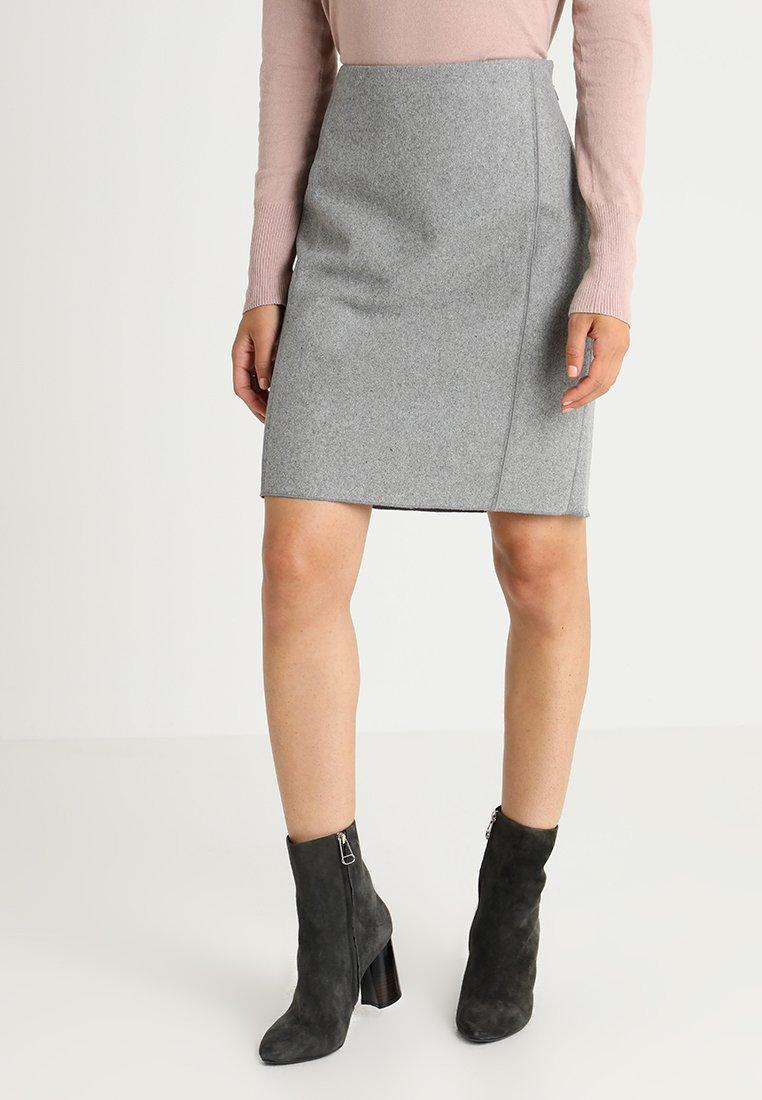 someday. - ODENA - Pencil skirt - hazy fog melange