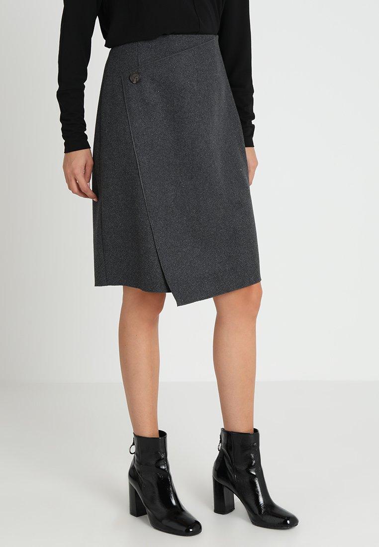 someday. - OLA - Wrap skirt - slate grey melange