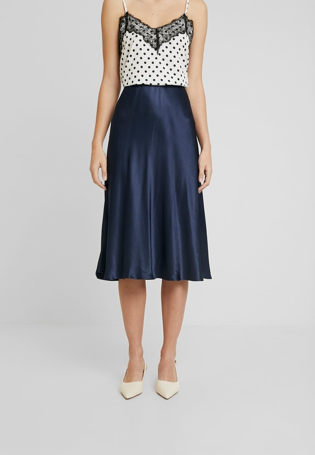 ODILE - Áčková sukně - smart blue