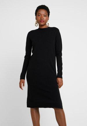 QALENE - Gebreide jurk - black