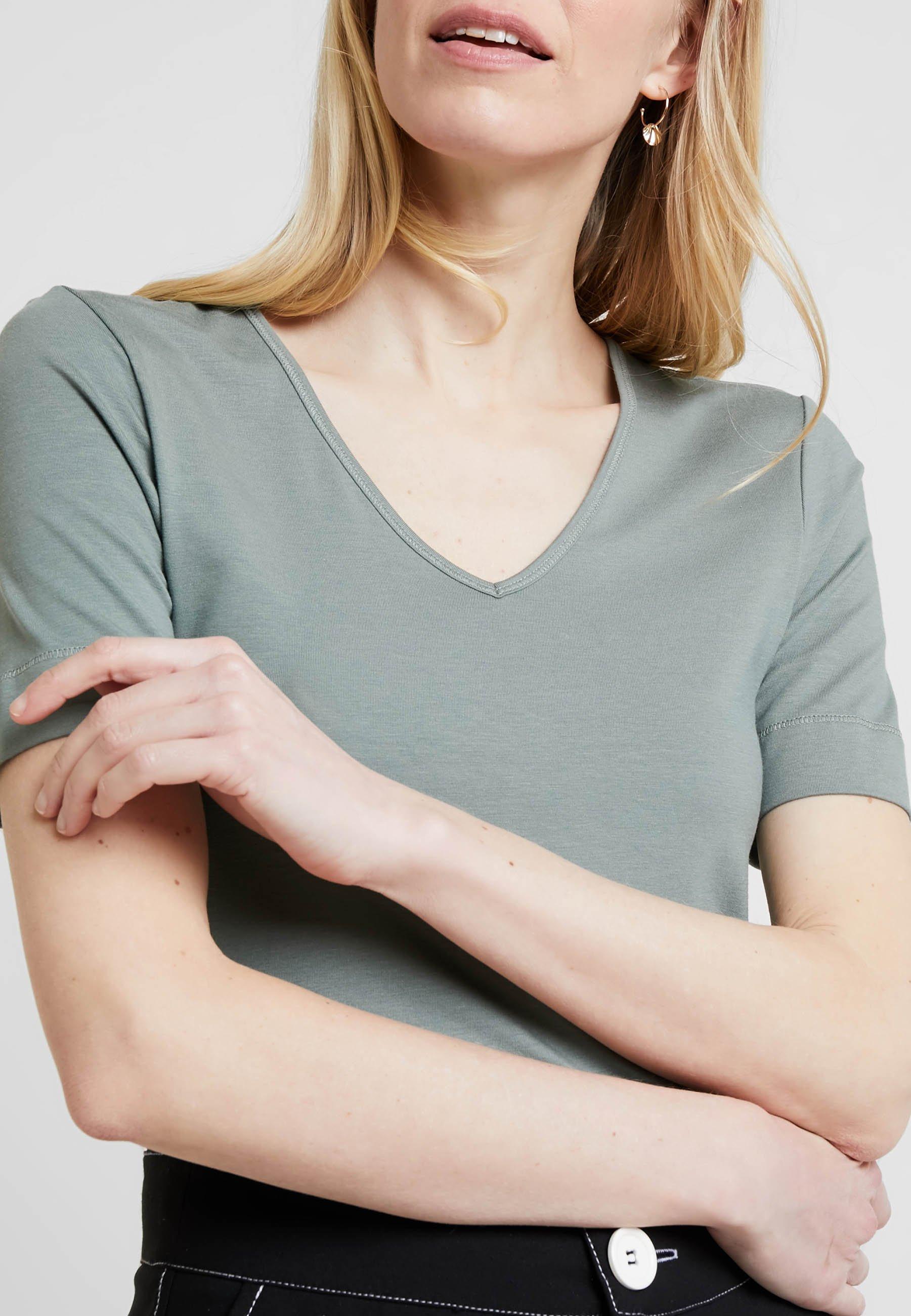 Someday. Kamali - T-shirt Basic Grey Green y23F60l3