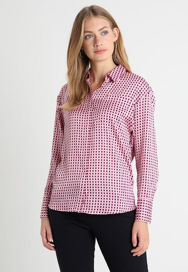 ZELJA - Button-down blouse - dark beetroot