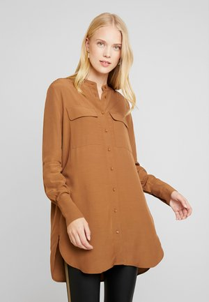 ZAMELIE - Button-down blouse - golden caramel