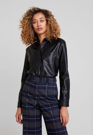 ZUNKA - Button-down blouse - black