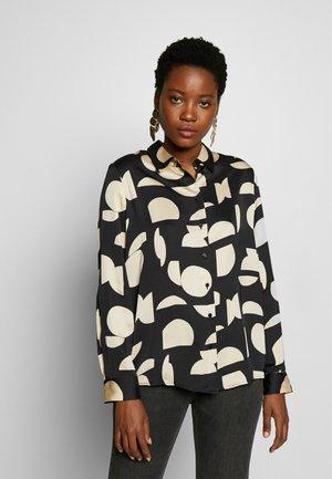 ZAUDIA - Button-down blouse - black