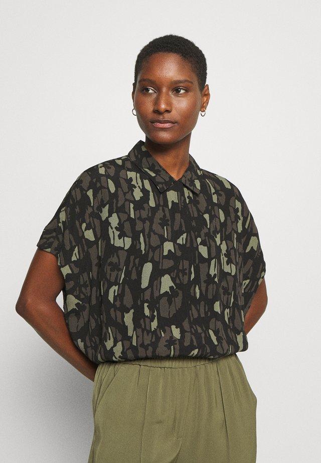 ZAMIKE BLOOM - Button-down blouse - black
