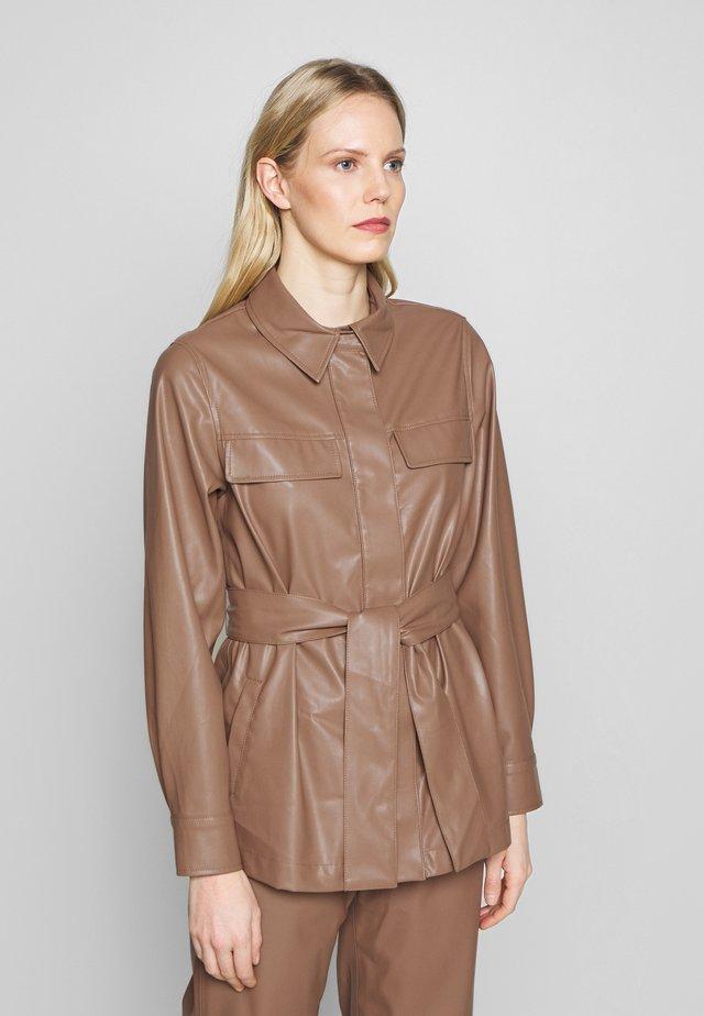 NICCI - Faux leather jacket - bambi