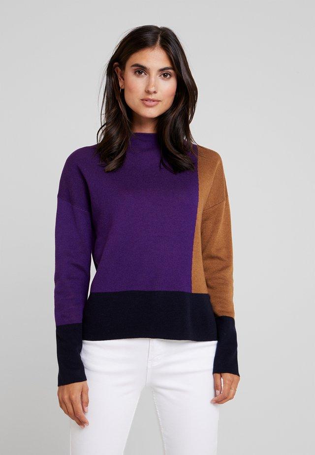 TADEUS CONTRAST - Maglione - vivid violet