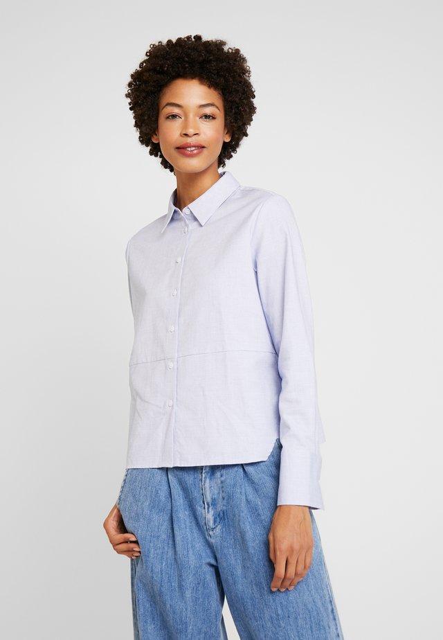 ZTELLA STRUCTURE - Button-down blouse - smart blue