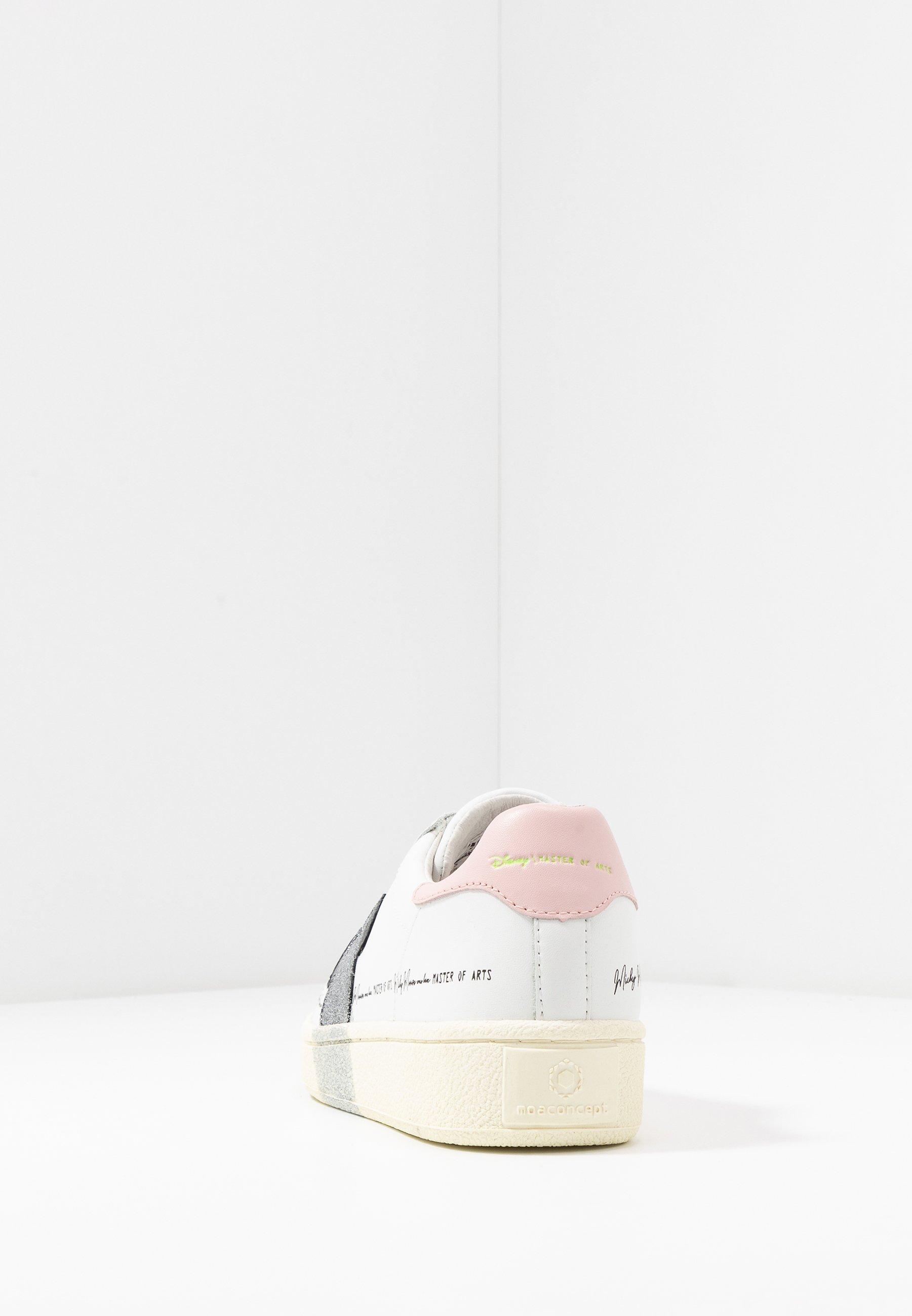 Moa - Master Of Arts Grand White Silver Glitter Sneakers White/silver