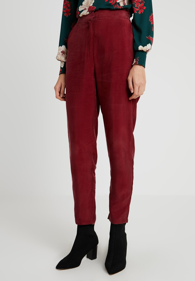 YAS Tall - YASCUPRA PANT  - Trousers - cabernet