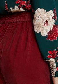 YAS Tall - YASCUPRA PANT  - Trousers - cabernet - 4