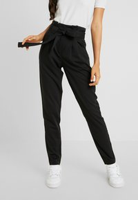 YAS Tall - YASTUDOR PANT - Pantalones - black - 0