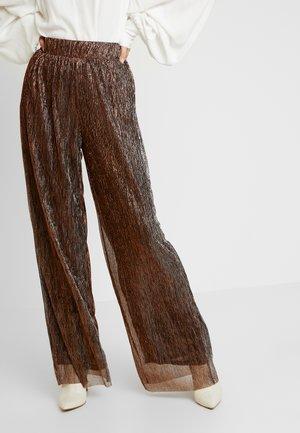 JANET PANT - Kalhoty - black