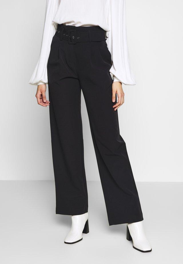 YASDINAH PANT - Spodnie materiałowe - black