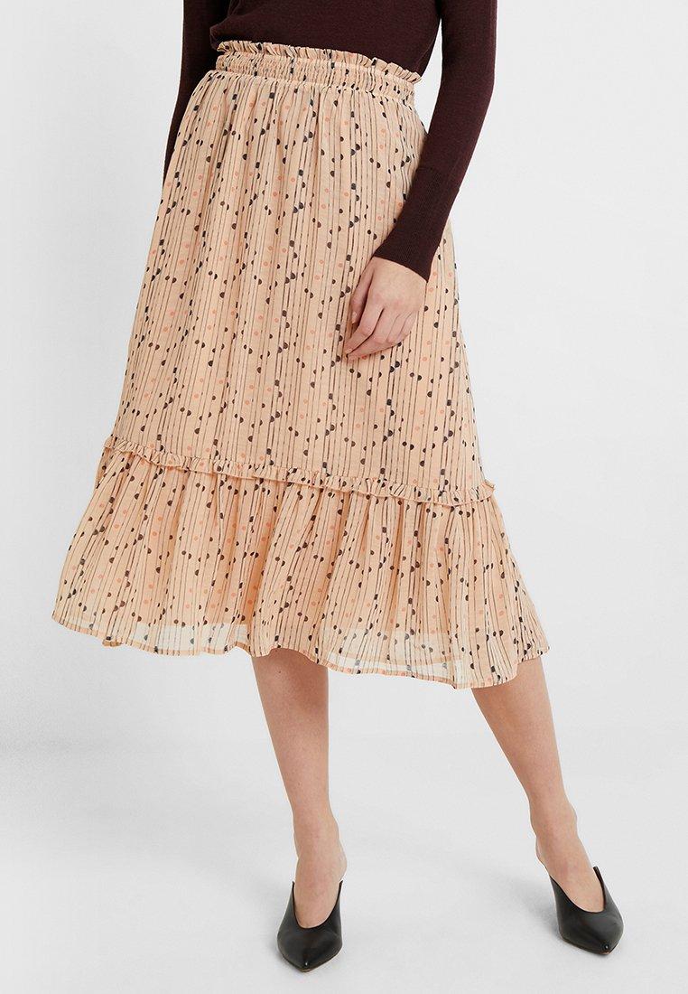YAS Tall - YASBRINA MIDI SKIRT  - A-line skirt - amberlight