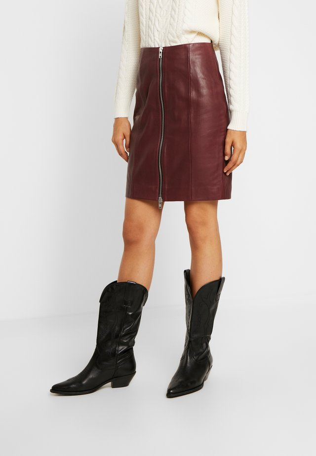 YASVITA SKIRT ICONS - Leather skirt - andorra
