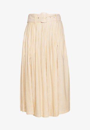 YASEMBER MIDI SKIRT - A-line skirt - golden rod/star white