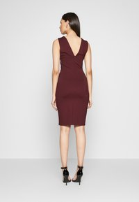 YAS Tall - YASCANE SPRING DRESS - Vestido de tubo - winetasting - 2