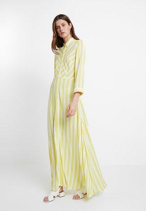 YASSAVANNA LONG SHIRT SUMMER DRESS - Maxikjole - yellow cream