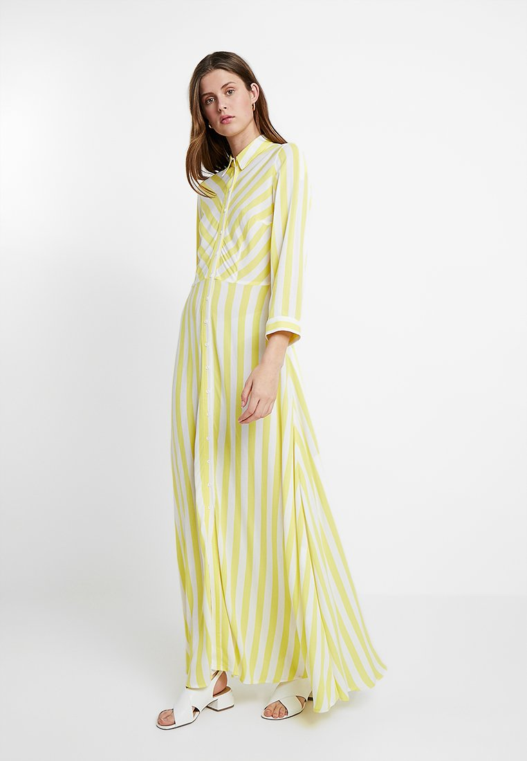 YAS Tall - YASSAVANNA LONG SHIRT SUMMER DRESS - Maxikleid - yellow cream
