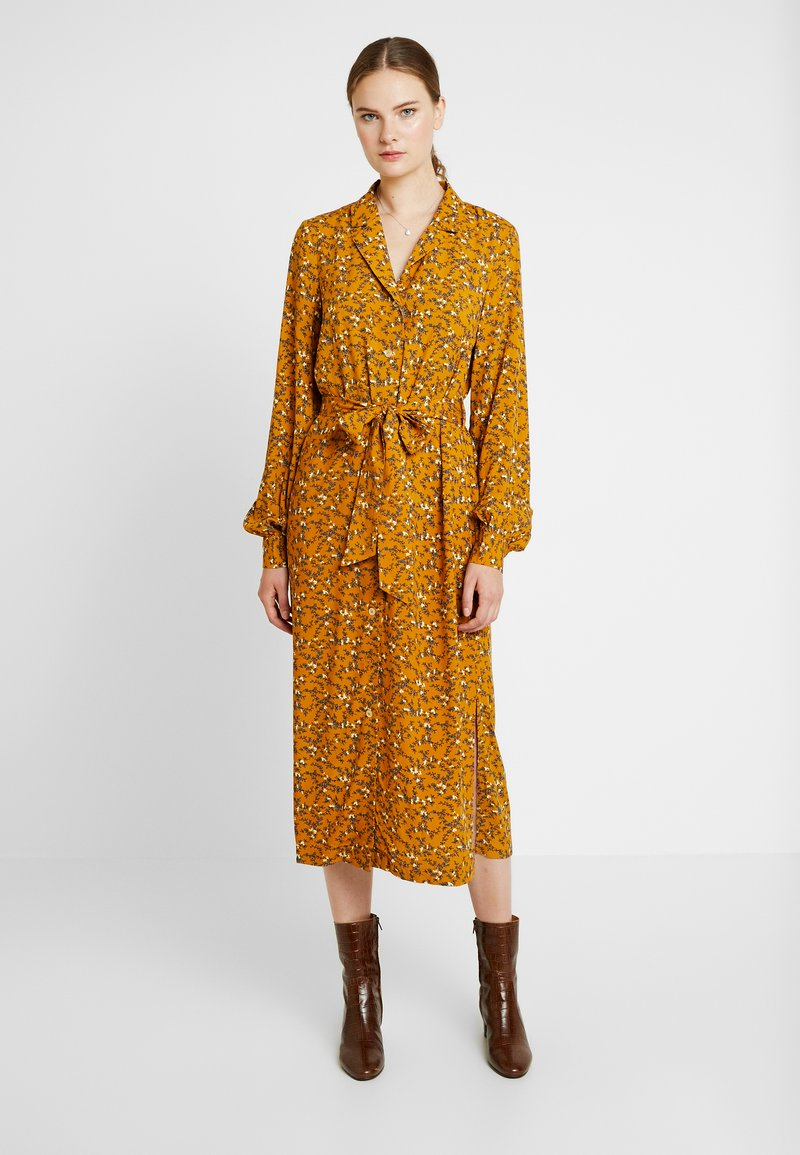 YAS Tall - YASELLA MIDI DRESS - Blusenkleid - buckthorn brown