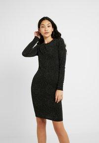 YAS Tall - YASLORETTA DRESS SHOW TALL - Sukienka etui - black - 0