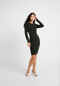 YAS Tall - YASLORETTA DRESS SHOW TALL - Sukienka etui - black - 2