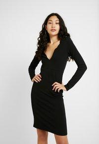 YAS Tall - YASATLANTA BODYCON DRESS - Pouzdrové šaty - black - 0