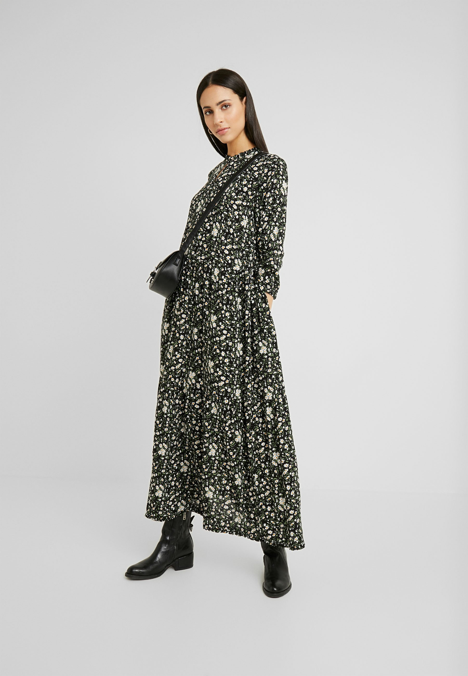 YAS Tall YASGREENISH LONG DRESS - Długa sukienka - black