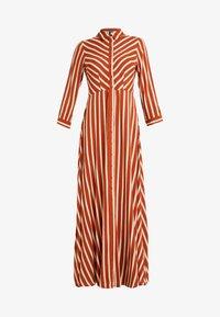 YAS Tall - YASSAVANNA LONG DRESS - Maxikjole - bombay brown/creme - 4